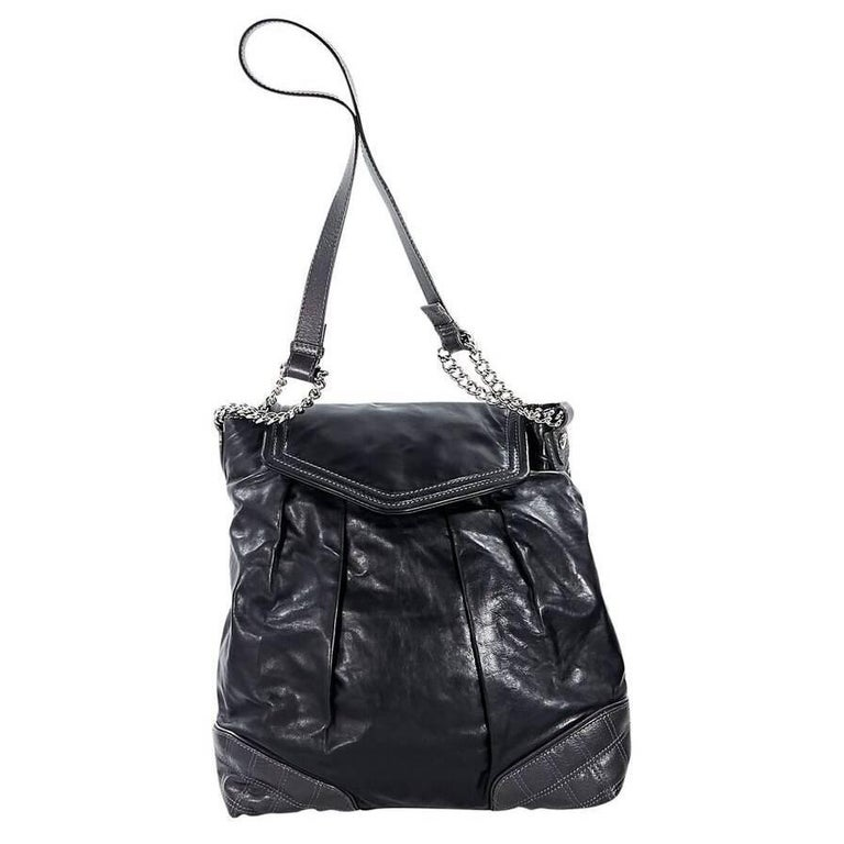 Black Marc Jacobs Leather Shoulder Bag For Sale