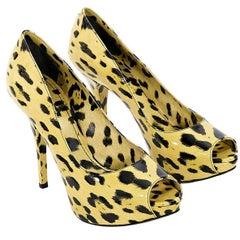Multicolor Dolce & Gabbana Leopard-Print Platform Pumps