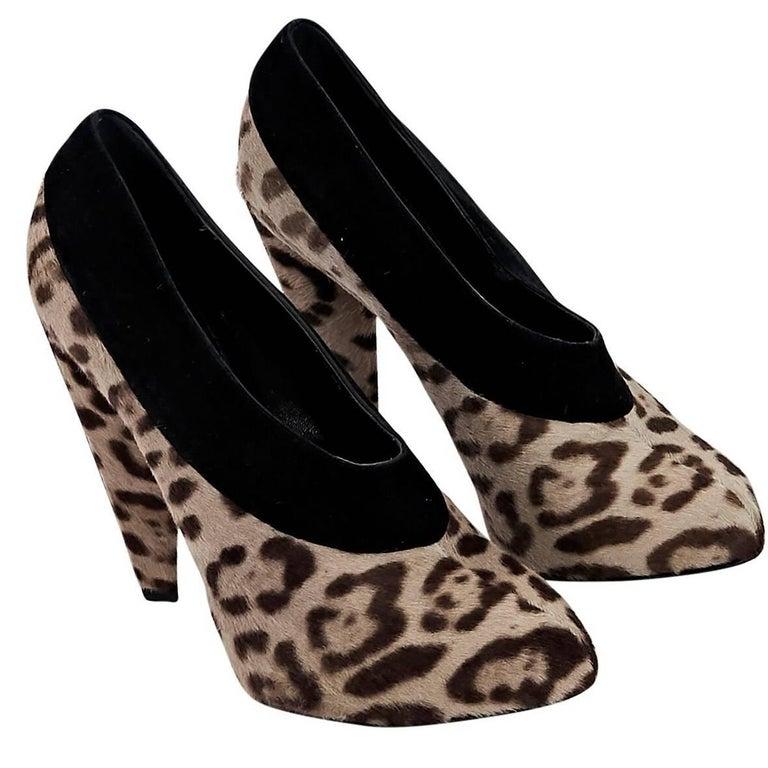 Multicolor Dolce & Gabbana Leopard-Print Booties