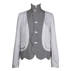 Comme des Garcons Scallop Edged Houndstooth Jacket