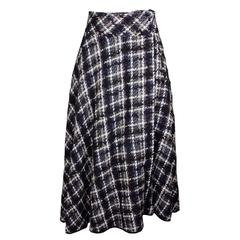 Yohji Yamamoto Luxurious Plaid Wool Wrap Skirt