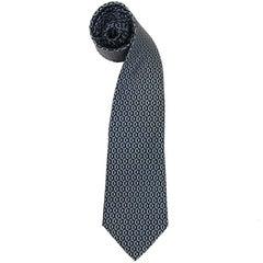 Hermès Multicolor Printed Vintage Silk Tie, 1960s