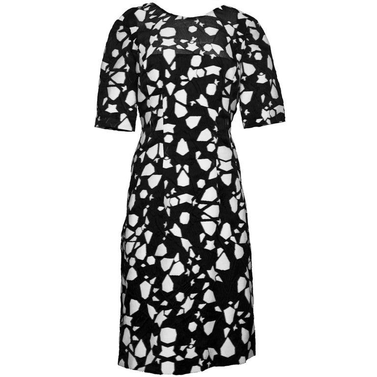 Lela Rose Black & White Dress Sz 8
