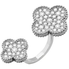 Van Cleef & Arpels Magic Alhambra Diamond Between the Finger Ring