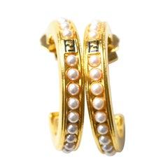 1990s Fendi Hoop Earrings