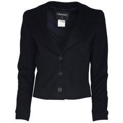 Chanel Black Cashmere Jacket Sz FR 42