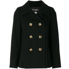 Chanel Black Wool Vintage Jacket, 2000s