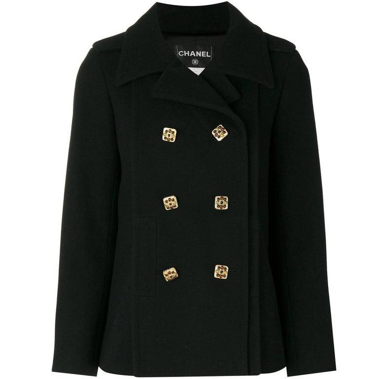 Chanel Black Wool Vintage Jacket, 2000s