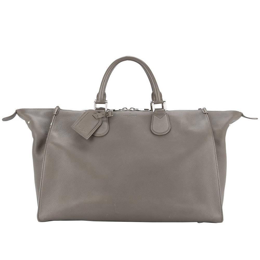 Louis Vuitton Leather Mens Carryall Top Handle Travel Weekender Tote Bag GSrpNN