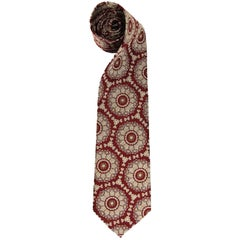Yohji Yamamoto Multicolor Printed Silk Vintage Tie, 1990s