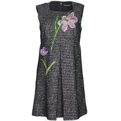 Dolce & Gabbana Black & White Houndstooth Dress Sz IT42