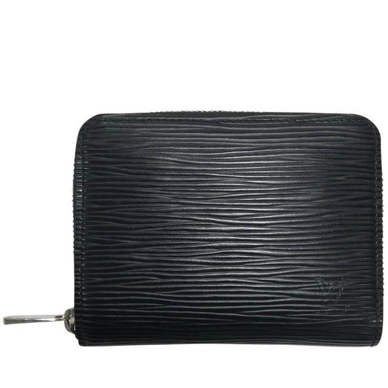 Louis Vuitton Small Black Epi Zipper Wallet