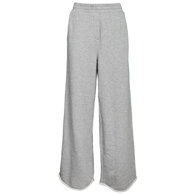 T By Alexander Wang Grey Wide Sweatpants Sz L NWT