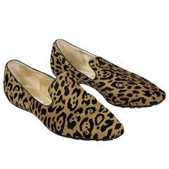 Jimmy Choo Multicolor Leopard Print Loafers