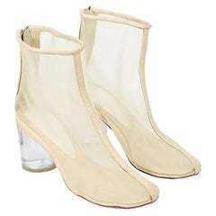 Maison Martin Margiela Nude Mesh Ankle Boots