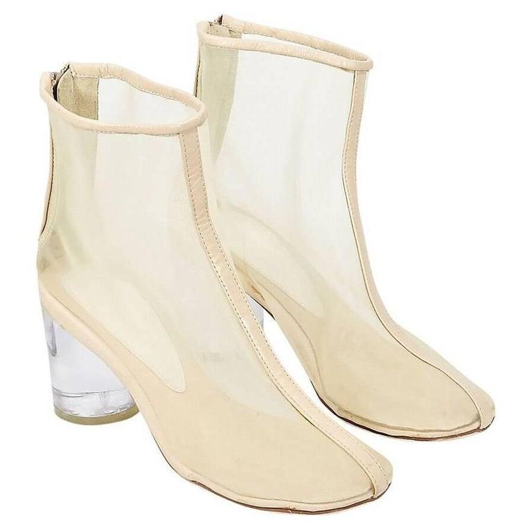 fc101df05b4 Maison Martin Margiela Nude Mesh Ankle Boots