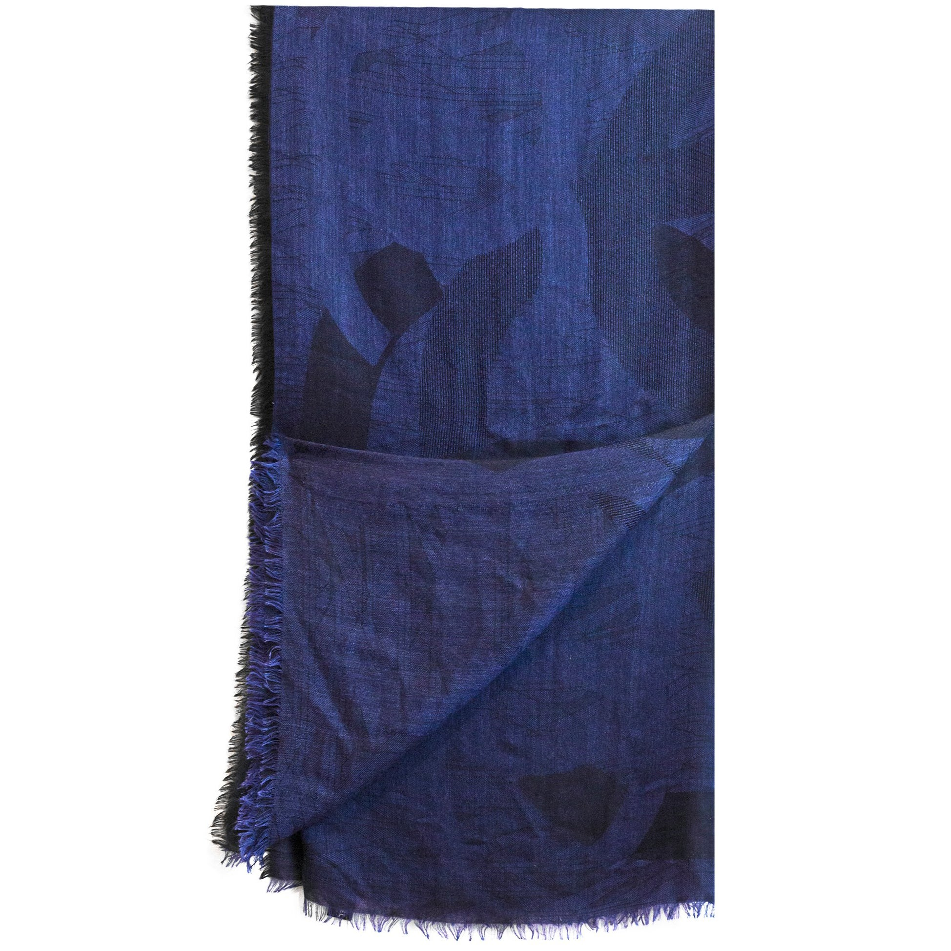 a4f93422dc91c Chanel Navy and Black Cashmere Blend CC Logo Scarf For Sale at 1stdibs