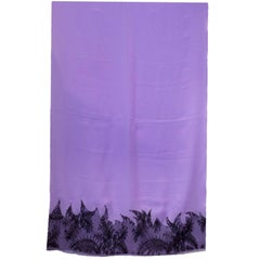 Gianni Versace Purple Scarf w. Lace Trim