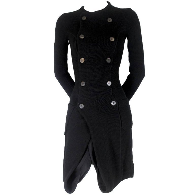 Junya Watanabe CDG 2007 Collection Loose Linning Wool Knit Dress For Sale
