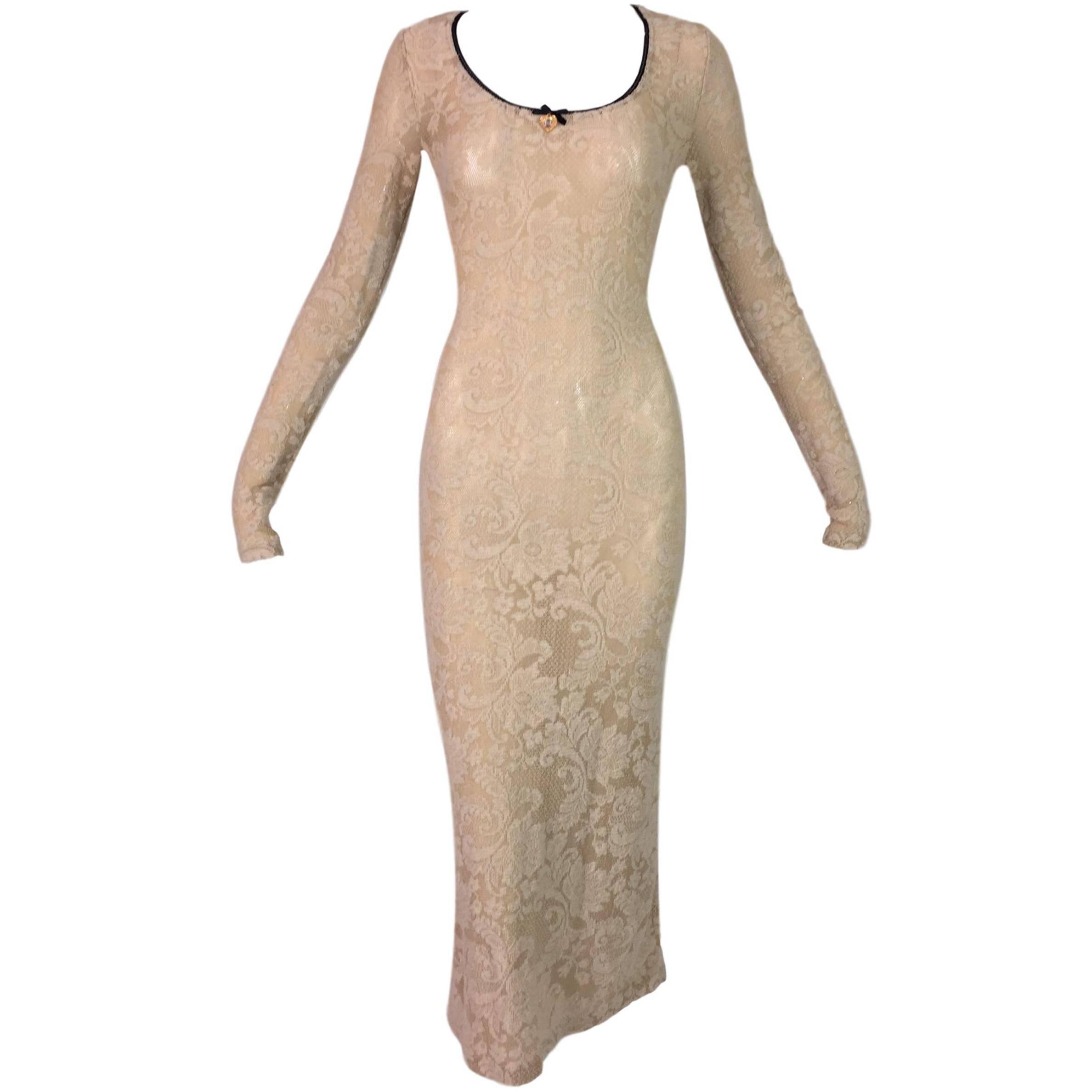 Mini Nylon Spandex Mini Dress One Size Fits Most Yellow Hole Fishnet