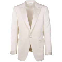 Tom Ford Ivory Wool Blend Peak Lapel OConnor Cocktail Jacket