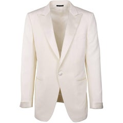 Tom Ford Ivory Wool Blend Peak Lapel O'Connor Cocktail Jacket