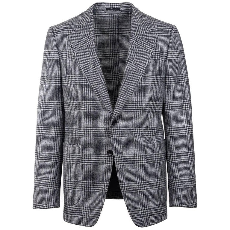 Tom Ford Prince Wales Houndstooth Shelton Sports Coat Jacket 48R 38R ret $3890