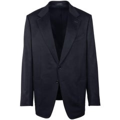 Tom Ford Black 100% Cashmere Shelton Cardigan Sports Jacket Sz 56L/46L RTL$3820