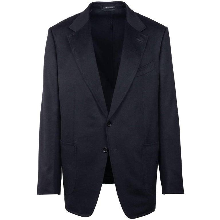 Tom Ford Black 100% Cashmere Shelton Cardigan Sports Jacket Sz 56L/46L RTL$3820