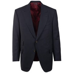 Tom Ford Black Wool Red Satin Lining Windsor Sports Jacket Sz 54C/44C RTL$3740