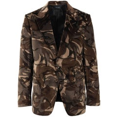 Tom Ford Men's Camouflage Velvet Shelton Dinner Blazer Jacket