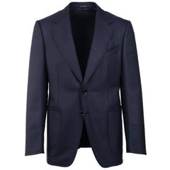 Tom Ford Shelton Navy Wool Blazer Sports Jacket 48R 38R ret $3750