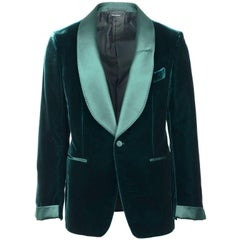 Tom Ford Mens Green Velvet Shelton Cocktail Blazer Jacket Size 48R 38R RTL$3980