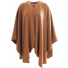 Yves Saint Laurent Cashmere Cape Camel Tan Poncho Fall 96 Runway YSL Rive Gauche