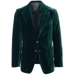 Tom Ford Light Green Velvet Peak Lapel Shelton Sport Jacket Sz 58R/48R RTL$3980