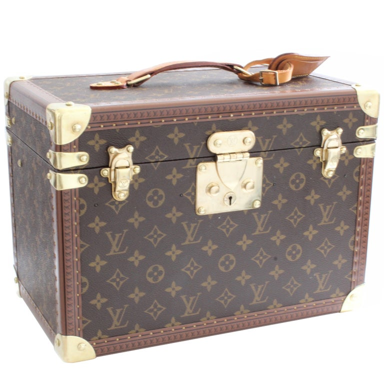 Louis Vuitton Boite Pharmacie Monogram Train Case Vanity Travel Cosmetics Box
