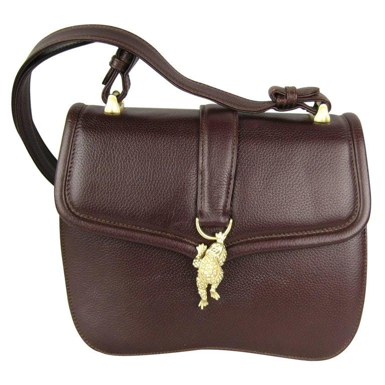 1995 BARRY KIESELSTEIN CORD Brown Lux Leather Mini Handbag Never Used
