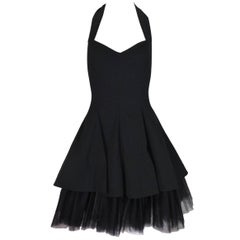 Dolce & Gabbana Documented Halter Ballerina Black Crinoline Mini Dress, S/S 1992
