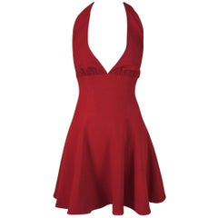 Dolce & Gabbana Red Plunging Marilyn Micro Mini Dress, S / S 1995