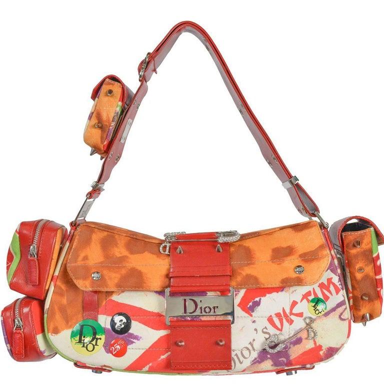 Vintage Dior 2003 'Victim' Columbus Avenue Cargo Bag