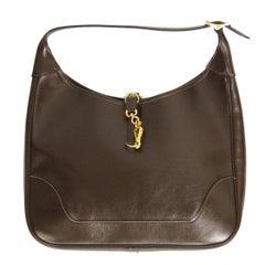 """Hermès """"Trim"""" Leather Shoulder Bag in Brown, 1960s"""