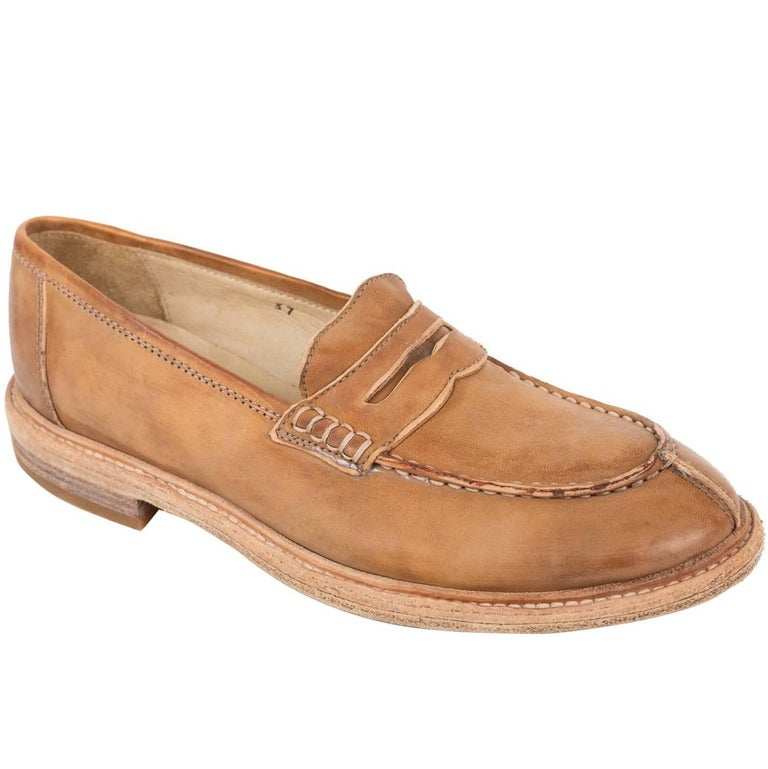 Brunello Cucinelli Womens Brown Leather Oxfords Shoes For Sale At