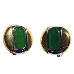 Givenchy 1977 Modern Clip Earrings.