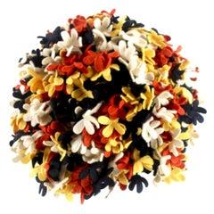Vintage 3D Floral Felt Hat