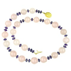 Gemjunky Rose Quartz and Amethyst Necklace