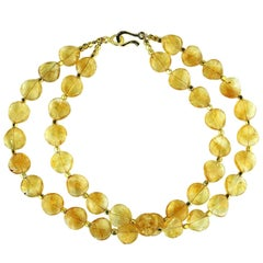 Glowing Citrine Double Strand Necklace