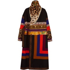 Etro Oversized Patchwork Jacquard  Wool-Blend and Goat Hair Coat