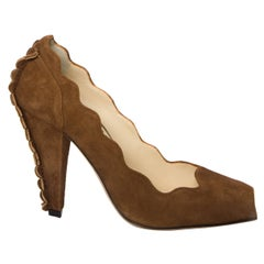 New Size 38 Rare Tom Ford for Yves Saint Laurent YSL Suede Heels Pumps