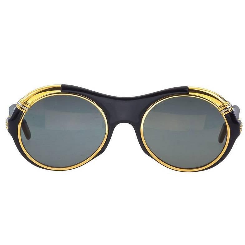 112f360a5ee38 Cartier Lunette Diablo Vintage Sunglasses For Sale at 1stdibs
