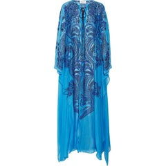 Emilio Pucci Lace Up Maxi Kaftan Dress